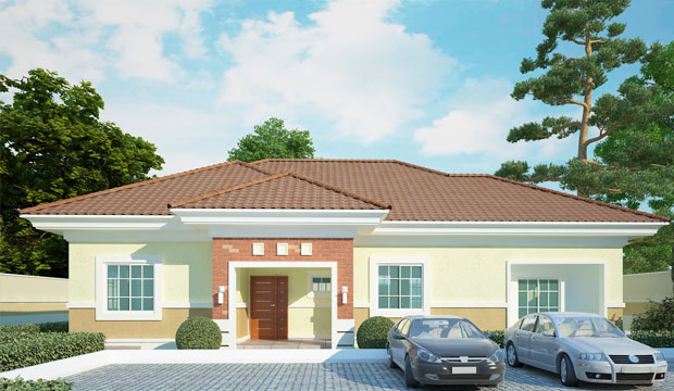 3 bedroom maids room bungalow bam projects for 4 bedroom house designs in nigeria